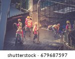 concrete pouring during... | Shutterstock . vector #679687597