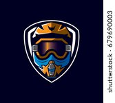 motocross sport emblem | Shutterstock .eps vector #679690003