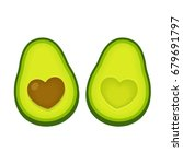avocado love vector... | Shutterstock .eps vector #679691797