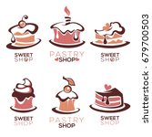 bakery  pastry  confectionery ... | Shutterstock .eps vector #679700503