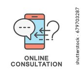 online consultation icon....   Shutterstock .eps vector #679703287