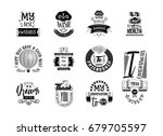 wishes stickers  can be used... | Shutterstock .eps vector #679705597