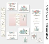 wedding invitation cards suite... | Shutterstock .eps vector #679718077