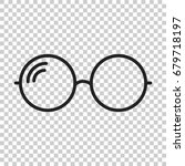 sunglasses vector icon. eyewear ... | Shutterstock .eps vector #679718197