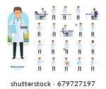set of character medical doctor....