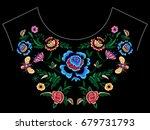 embroidery folk neckline... | Shutterstock .eps vector #679731793