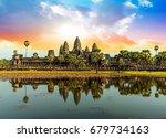 Colorful Sunrise In Angkor Wat...