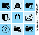 set of 9 web icons such as... | Shutterstock .eps vector #679741627