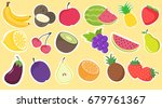 collection of hand drawn fruit... | Shutterstock .eps vector #679761367