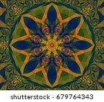 abstract decorative green... | Shutterstock . vector #679764343