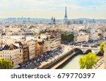scenic rooftop view of paris ...   Shutterstock . vector #679770397