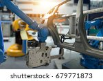automobile manufacturing... | Shutterstock . vector #679771873
