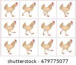 walking light brown hen sprite...
