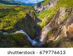 voringsfossen waterfall.... | Shutterstock . vector #679776613