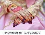 bride henna carved beautiful... | Shutterstock . vector #679780573