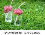 refreshing summer drink with... | Shutterstock . vector #679783507