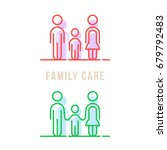color thin line family care... | Shutterstock .eps vector #679792483