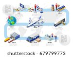 international trade logistics... | Shutterstock .eps vector #679799773
