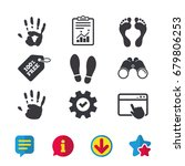 hand and foot print icons....
