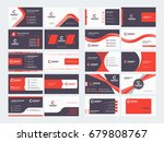 double sided business card... | Shutterstock .eps vector #679808767