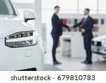 selective focus on a car... | Shutterstock . vector #679810783