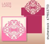 laser or die cut envelope... | Shutterstock .eps vector #679813753