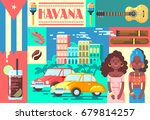 welcome to cuba cute travel... | Shutterstock .eps vector #679814257