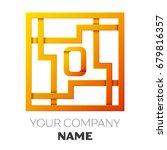 realistic letter o vector logo... | Shutterstock .eps vector #679816357