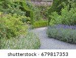 Curved Stone Walk Way Between...