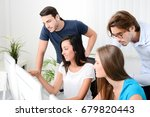 group of young people in a... | Shutterstock . vector #679820443