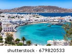 panoramic view over the town... | Shutterstock . vector #679820533