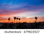 palm trees in residential los...   Shutterstock . vector #679823527