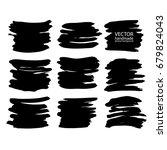 set of abstract vector brush...   Shutterstock .eps vector #679824043