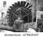 An Italian Water Mill In Black...