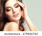 woman cosmetic closeup beauty... | Shutterstock . vector #679836763