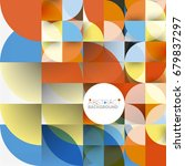 cut paper circles  mosaic mix... | Shutterstock .eps vector #679837297