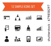 set of 12 editable analytics...