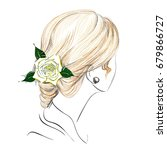the sketch of a women's fashion ... | Shutterstock .eps vector #679866727