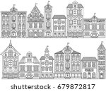 vector black and white town... | Shutterstock .eps vector #679872817