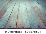 blue wooden board surface in... | Shutterstock . vector #679875577