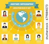 avatars infographic banner...   Shutterstock .eps vector #679884073