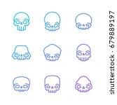 outline skulls blue purple...   Shutterstock .eps vector #679889197