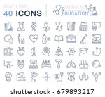set of line icons  sign and... | Shutterstock . vector #679893217