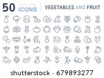 set of line icons in flat... | Shutterstock . vector #679893277