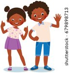 girl and boy african americans... | Shutterstock .eps vector #679898713