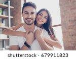 true love. beautiful latino... | Shutterstock . vector #679911823