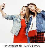 best friends teenage girls... | Shutterstock . vector #679914907