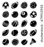 sport balls set. vector   Shutterstock .eps vector #679915933