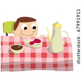 breakfast | Shutterstock .eps vector #67991911