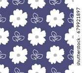 floral seamless pattern. white... | Shutterstock .eps vector #679921897